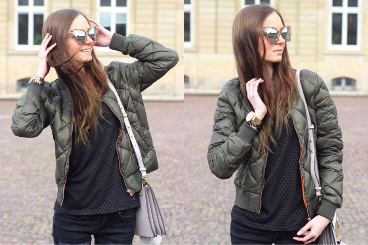 STREETSTYLE: BOMBERJACKET AND BLACK CASUAL